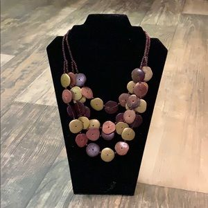 Jewelry - Wood circles statement necklace